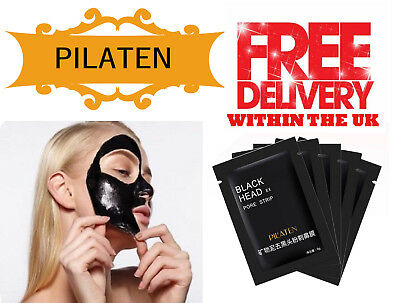 10 Pilaten Charcoal Blackhead Remover Sachets Peel Off Facial Cleaning Face Mask