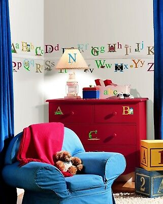 ALPHABET 73 BiG Wall Stickers ABC pictures Room Decor Decal Name School Letters