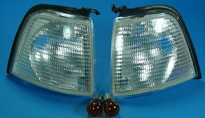 Audi 80 A80 8C B4 91- PAIR FRONT INDICATORS WHITE WITH P21W