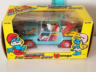 I Puffi  Puffo Smurf  Schlumpfe Burago Cod.1104 Vintage Toy Made In Italy Anni80