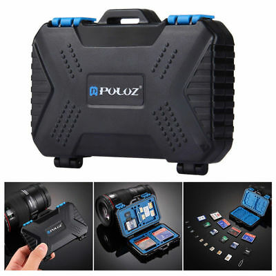 PULUZ 25 Slot Memory Card Waterproof Storage Box Case For DSLR Camera SD TF MSD