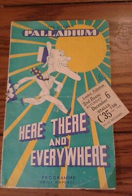The London Palladium Here There and Everywhere (Val Parnell) Programme/ticket