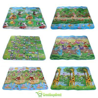 2 Side 200 * 180cm Picnic mats Baby climbing pad Educational Game Foam Carpet UK