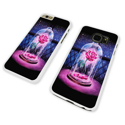 BEAUTY AND THE BEAST ROSE WHITE PHONE CASE COVER fits iPHONE / SAMSUNG (WH)