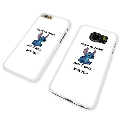 DISNEY FUNNY STITCH QUOTE WHITE PHONE CASE COVER fits iPHONE / SAMSUNG (WH)