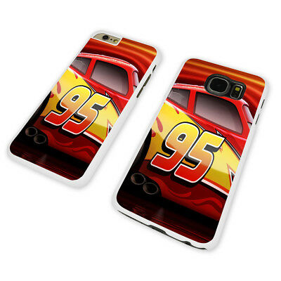 DISNEY CARS 95 WHITE PHONE CASE COVER fits iPHONE / SAMSUNG (WH)