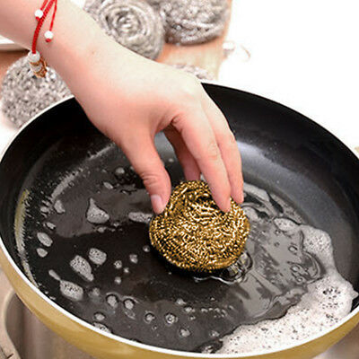 Pratical Soldering Solder Iron Tip Cleaner Brass Cleaning Wire Sponge Ball Gold