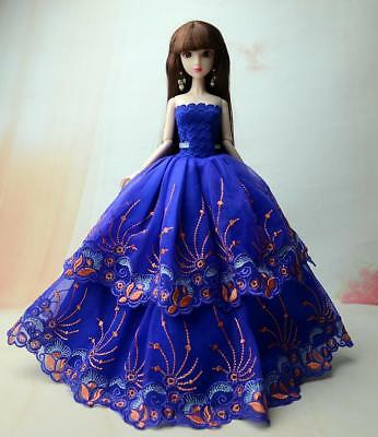 Princess Wedding Dress Noble Party Gown For Barbie Doll Fashion Design Outfit
