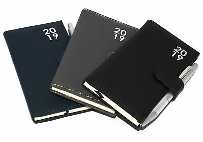 2019 Pocket Day to Page Leatherette Organiser Appointment Office Desk Diary