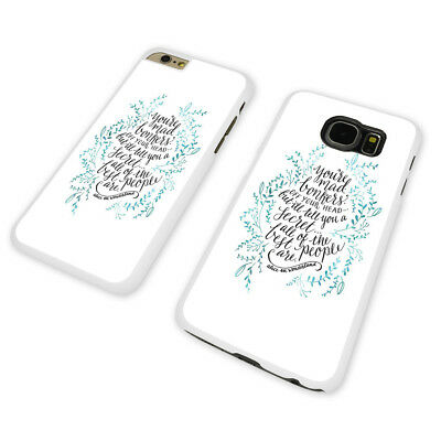 BONKERS  ALICE DISNEY  WHITE PHONE CASE COVER fits iPHONE / SAMSUNG (WH)