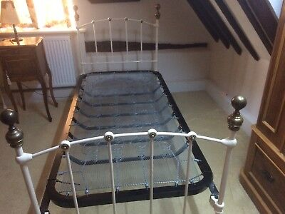 Antique Iron and brass single bed