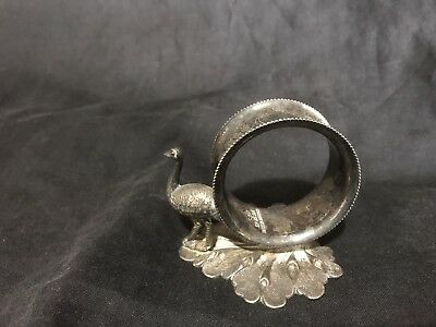 Silver Plated Napkin Ring Emu