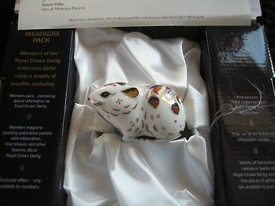 Royal Crown Derby BANK VOLE COLLECTORS GUILD Paperweight -  boxed