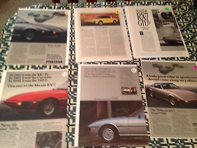 Mazda Automobile Company Ads Vintage Advertising Lot Of 9 &1993 Brochure 60/70S