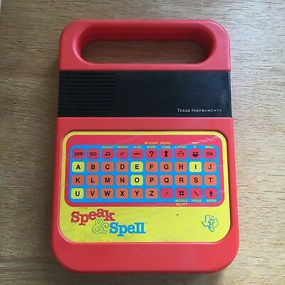 Vintage Retro Speak And Spell by Texas Instruments Educational Toy 1978 Working!