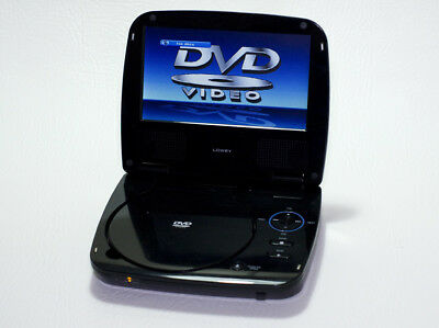 Black Portable DVD player by Lowry