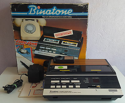Binatone Phonecorder MK 2, Dual Tape Telephone Answering Machine, Boxed + Remote