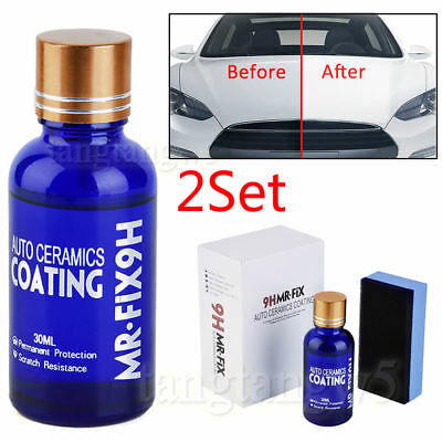 2X Car Care Super Hydrophobic Liquid Ceramic Glass Coating Wax Coat Auto Paint