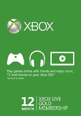 12 Months Xbox Live Gold Subscription License code Worldwide