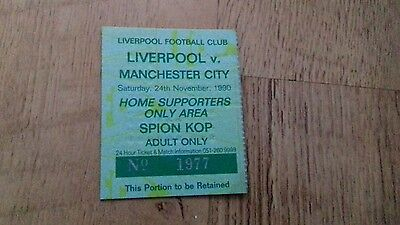 Liverpool v Man City ticket stub 16