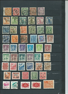 Briefmarken China gemischt