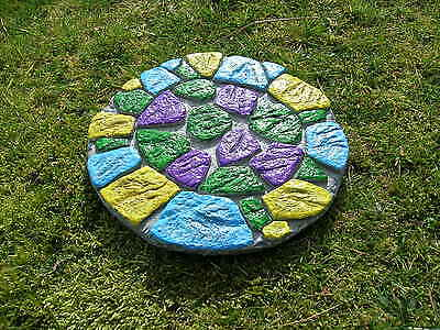 Latex Mould To Make Large Rustic Crazy Paving Stepping Stone Garden Ornament