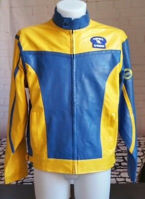 CAMEL YAMAHA in pelle 2006 - LIMITED EDITION jacket moto rally - taglia size XL