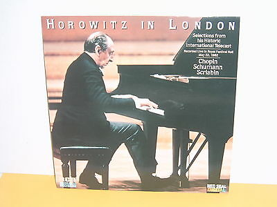 Lp - Horowitz In London - Chopin Schumann Scriabin