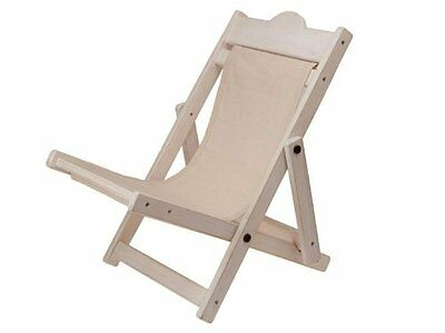 HALF PRICE! Charlie Bears Deck Chair White (Shell) (Brand New Stock!)