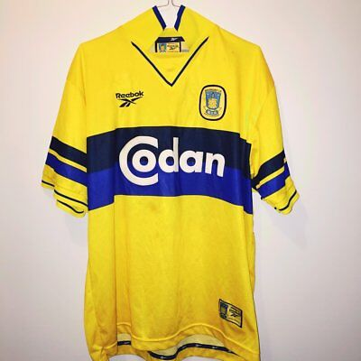 Vintage Reebok Brondby IF Football Shirt 1998 Size Large