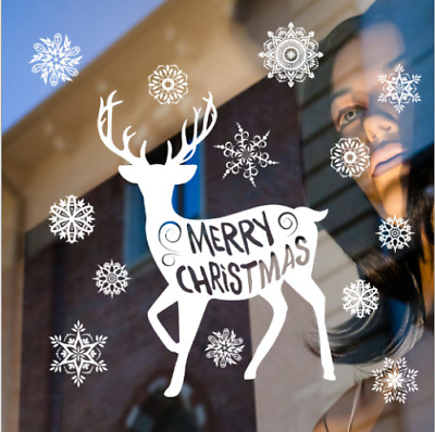 NEW stickers Christmas snowflake elk doors and windows Decorations stickers