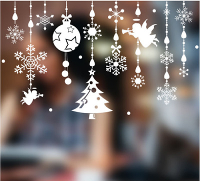 Latest stickers Christmas snowflakes angel doors and windows decorative stickers