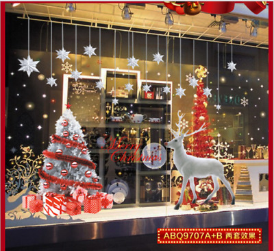 New Year Christmas elk mural living room windows and doors background decoration