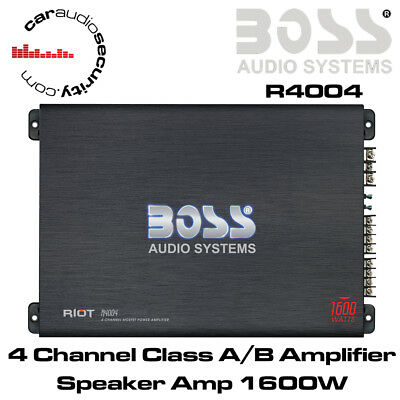 Boss Audio R4004 - 4 Channel Class A/B Amplifier Speaker Amp 1600W