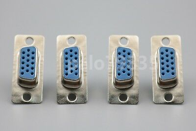 10Pcs D-SUB DB15 AVG Female 3 Row 15 Pin Plug Adapter Solder Connector