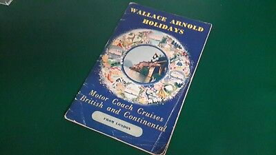 Wallace Arnold 1956 Holiday Brochure Coach Cruise Tourism Travel Advertising