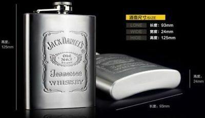 Hot sales!Fashion Beautifully portable Engraved 7oz Stainless Steel HIP Flasks