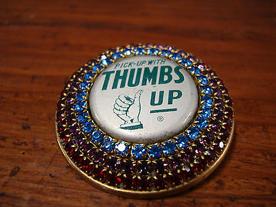 Thumbs Up Soda Pin Bottle Cap Squirt Pick Up With Thumbs Up Company Pin Vintage