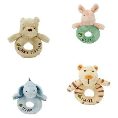 Disney Classic Winnie The Pooh Collection -  Ring Rattle- Choose Character