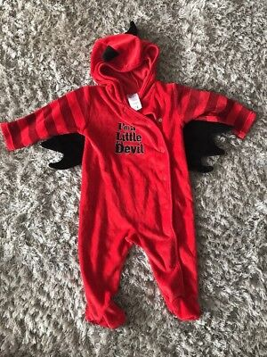 Baby Halloween Costume Baby grow Age 3/6 Months Little Devil
