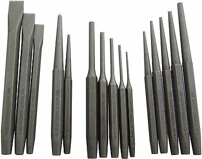 Am-Tech Mechanics Punch and Chisel Set (16 Pieces)