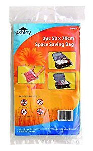 2 Pack 50 x 70 cm Space Saving Bag, Ideal For Packing Suitcases, Drawers