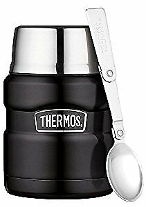 Thermos Stainless King Food Flask, Matt Black, 470 ml
