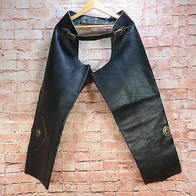 Handmade Quality Thick Gauge Leather Fully Adjustable Motorcycle chaps