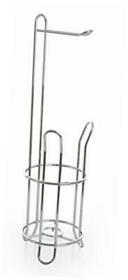 'the classic' free standing toilet paper holder, chrome