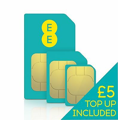 EE Pay As You Go SIM Including £5 Credit