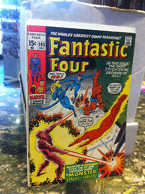 Fantastic Four #105...1970...monster In The Streets