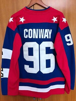 Mighty Ducks D2 Movie Team USA Hockey Jersey  96 Charlie Conway Stitched All 0189b8fcf