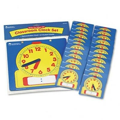 Learning Resources Write Wipe Clocks Classroom Set