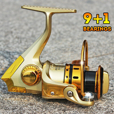 Full Metal Spinning Fishing Reel Left/Right Hand Golden Fishing Tackle MR2000